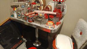 old diner bar and stools Kitchener / Waterloo Kitchener Area image 3