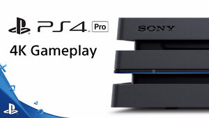 NEW PS4 PRO NEVER USED IN BOX with GAME $499!! NO GST!! 4K!!