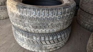 Pair of 2 Uniroyal Tiger Paw IceSnowII 215/65R16 WINTER tires (6