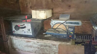 Sander and table saw