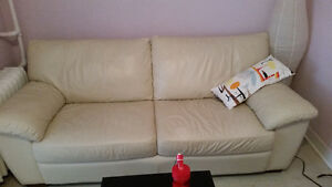 Leather Ikea couch in great condition!