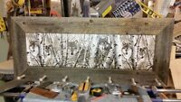 Barn Board Birch Wolves Coat Rack