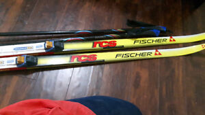 FISCHER RCS X COUNTRY SKIS & POLES