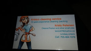 Kristy's cleaning service Kawartha Lakes Peterborough Area image 1