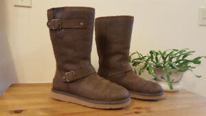 Womens Ugg® Sutter Leather Boot. Brown.