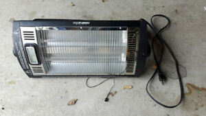 Overhead Quartz Radiant Heater    ..Bought from Princess Auto