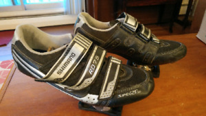 Shimano SPD SL road bike shoes and clips