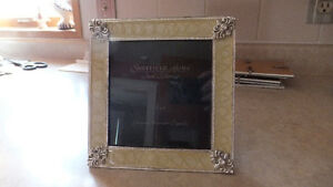 Glass Frame with Silver Edging