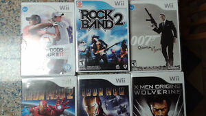 Wii Games ($15 each) and Rock Band 2 accessories