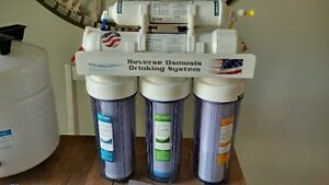 5 filter system for drinking water (Reverse Osmosis) Installed!