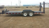20' DOUBLE A EQUIPMENT TRAILER