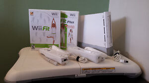 Wii with balance board
