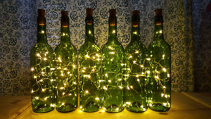 wedding decoration bottle lamps