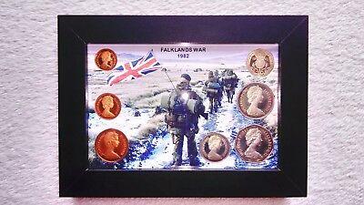 Falklands War.(1982 Framed Coin Year Set BU/Collectors/Commerative Gift).🇬🇧.