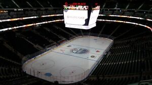 3 Edmonton Oilers Tickets - Extra Wide + Aisle, Private row of 3