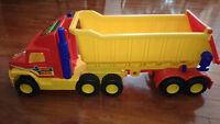 WADER Made in GERMANY HUGE Toy Dump Truck Tractor with Trailer