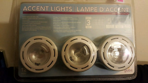 Halogen puck lights.  3x20w.