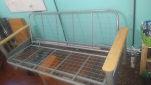 Metal futon frame that transforms to couch or bed 40$ OBO