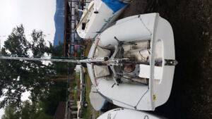 Olympic Class: 470 Sailboat on Trailer