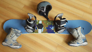 Burton Feather Snowboard, Bindings, Boots and Helmet!