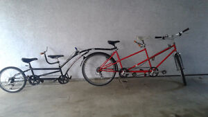 Tandem Bicycle and Tandem Trailer bike!