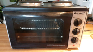 Bravetti Platinum Pro Convection Oven Double Burner