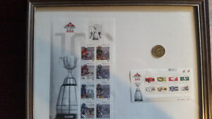 100th Grey cup stamps Cambridge Kitchener Area image 1