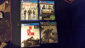 Tom Clancy The Division Watch Dogs 1 , Metro Redux , and The Evi