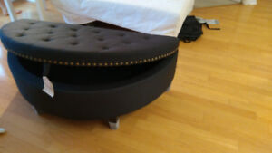 Gorgeous brand new studded tufted ottoman with storage