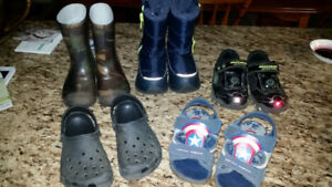 4 pairs BOYS footwear.  All size 10