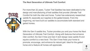 Awesome Tucker Hornless Trail Saddle