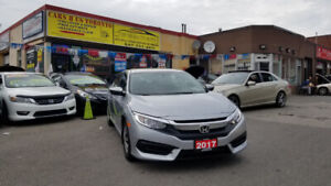 2017 HONDA CIVIC LX LOADED GRAY ON BLACK WITH ONLY 45 KM