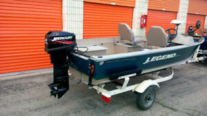 Excellent Legend Pro Sport 17' Bass Boat, 25 HP