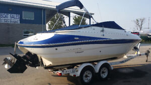 Beautiful Campion 705i BR & Trailer with Low Hrs Cuddy/Bowrider