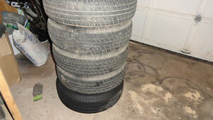5 Brand new all season tires and wheels 205/75r15