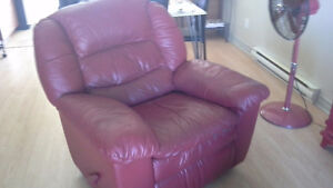 Fauteuil inclinable El Ran rouge