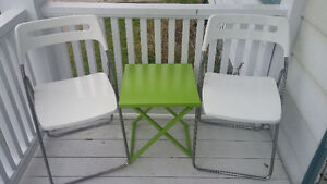 Folding chairs + table (Ikea + Umbra!) $75 Peterborough Peterborough Area image 1