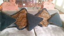 Stunning set of 5 leopard print velvet cushions Crafers Adelaide Hills Preview