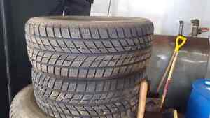 2 used snow tires 225 55 17