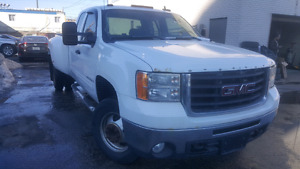 2009 GMC SERRIA 3500 DUALLY PICK UPTOW TRUCK WHEEL LIFT EXTENDED