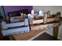 Hand Crafted Rustic Wine & Glass Rack / Holders