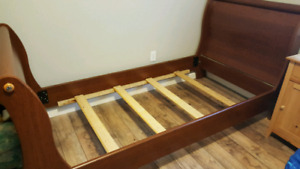 Twin sleigh bed with brand new mattress