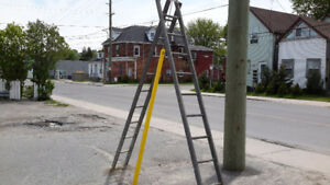 ANTIQUE WOODEN LADDERS  24 foot  2 sections only $120.00