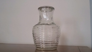 Anchor Hocking Glass Beehive Ribbed Juice Pitcher
