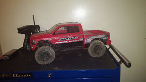 axial scx10 dodge ram lightly modified with box