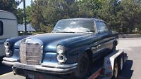 1962 Mercedes 220se coupe - rare numbers matching car