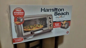 "New Hamilton Beach Convection Oven/Fits 12"" Pizza/Door Lifts Up"