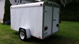 6x10 united enclosed trailer