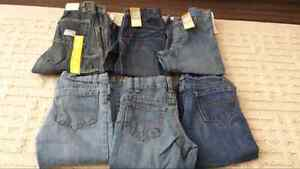 6 pairs of 3T jeans 3 new with tags