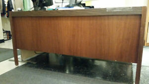 Desk Wood with five drawers one for letter size hanging files